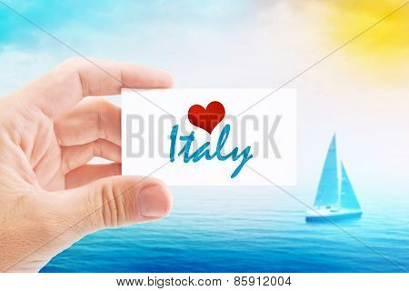 Summer Vacation On Italy Beach