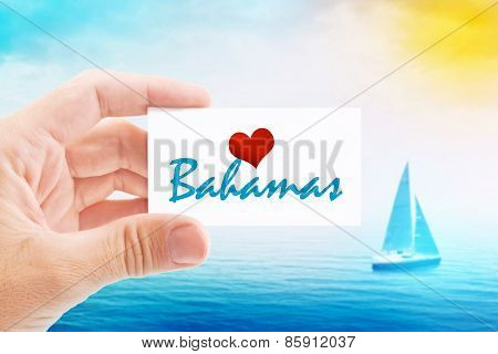 Summer Vacation On Bahamas Beach