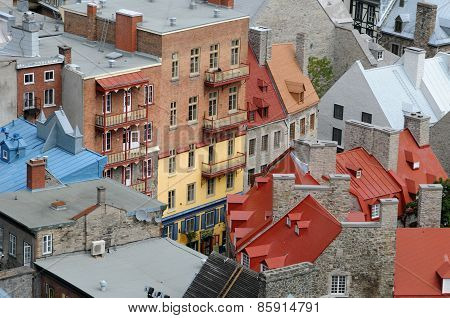 The Historical Old Town Of Quebec