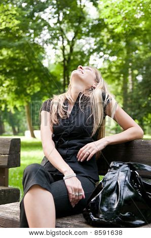 Emotion - Laughing Woman Outdoors
