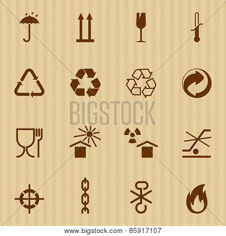 Packing and logistic vector icons