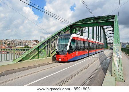 Modern Tram, Belgrade, Serbia
