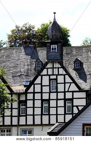 Half-timbered German House