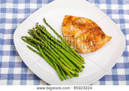 Asparagus With Baked Salmon