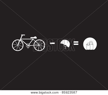 Vector Illustration Illustrator Bicycle Riding Safty Concept