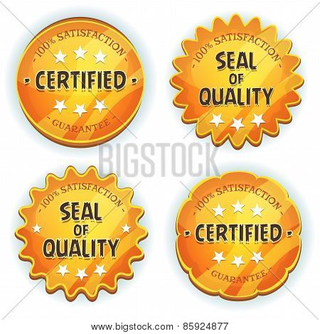 Cartoon Gold Premium Quality Seals