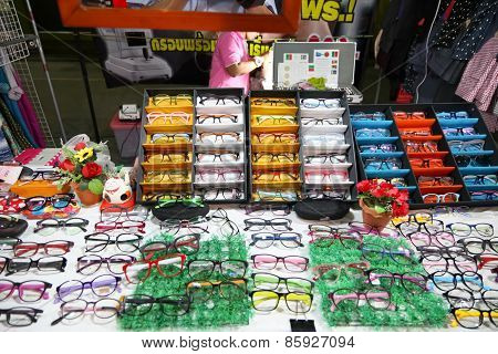 Eye Glasses Shop At The Night Market