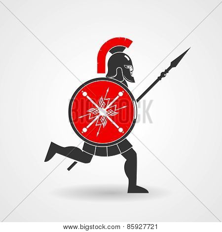 Ancient legionnaire warrior icon