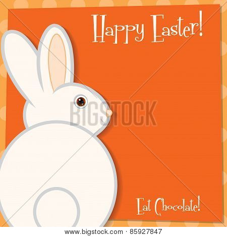 Funky Easter Bunny Card In Vector Format.