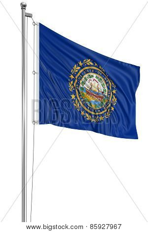 3D New Hampshire Flag