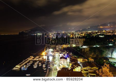 Night Scene Of Sorrento
