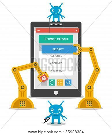 Application user interface development concept