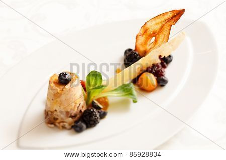terrine with berry sauce