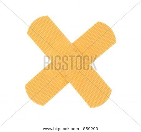 cross on pure white background
