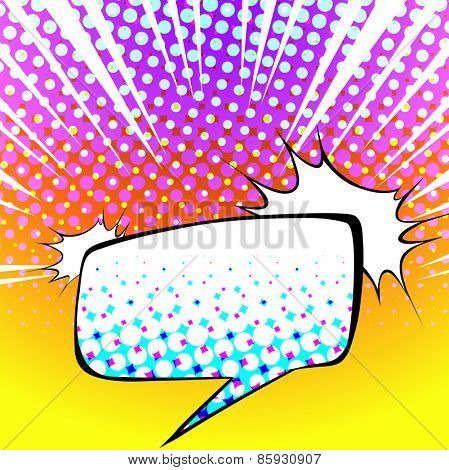 Speech bubble with colorful background