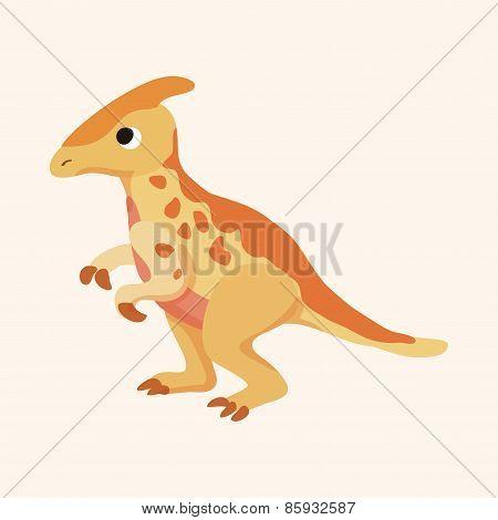 Dinosaur Cartoon Theme Elements Vector,eps