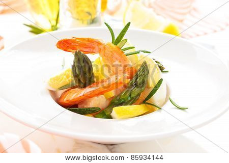 Salad With Prawns.