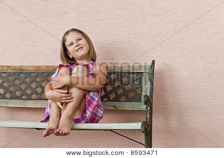 Happy Childhood - Portrait Of Girl