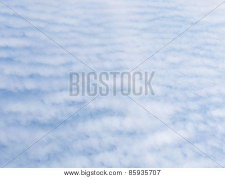 Unusual Striped Cumulus Clouds