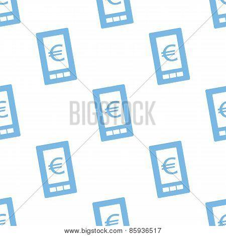 Euro phone seamless pattern