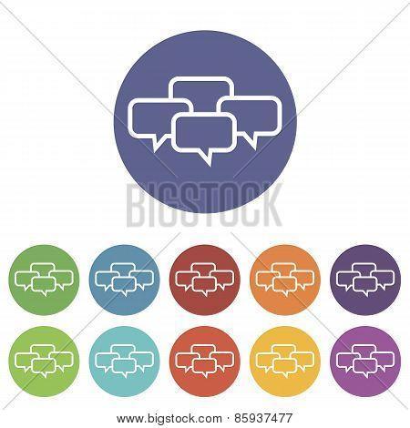 Dialog flat icon