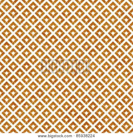 Orange And White Diagonal Squares Tiles Pattern Repeat Background
