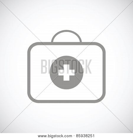 Medic bag black icon