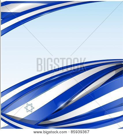 Israel Background With Texture Flag