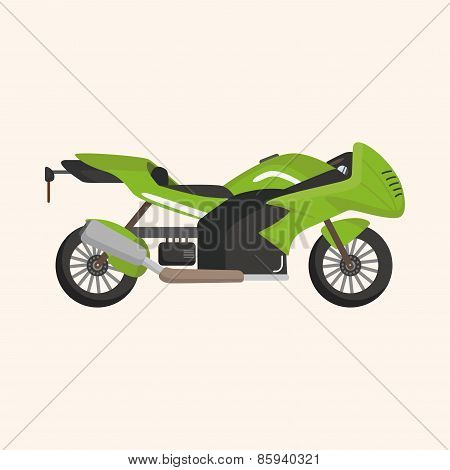 Transportation Motor Theme Elements Vector, Eps