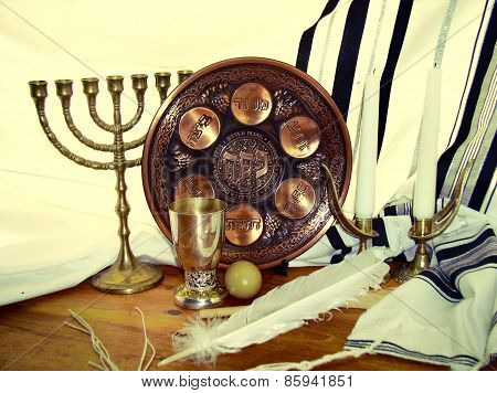 Jewish Symbols For The Passa Celebration