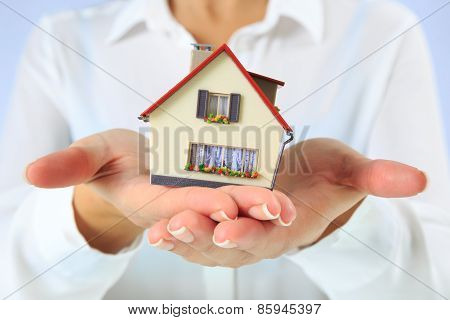 house in hands - closeup