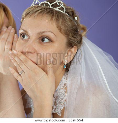 Bride Emotionally Listens To Latest News