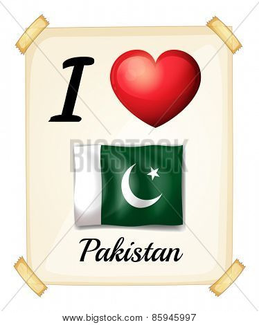 I love Pakistan sign on the wall