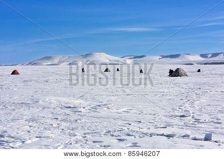 Landscape On The Ice Reservoir