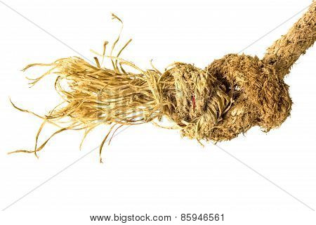 Jute Rope On White Background
