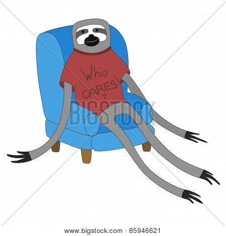Sloth In A Chair