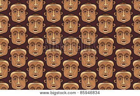 Carved masks pattern