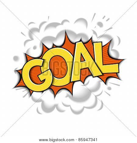 Goal - pop art design