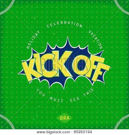 Kick off - pop art design