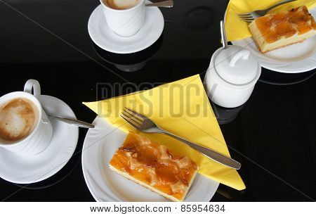 Coffee and apricots cake