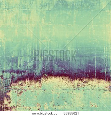 Vintage texture with space for text or image, grunge background. With different color patterns: blue; cyan; purple (violet)