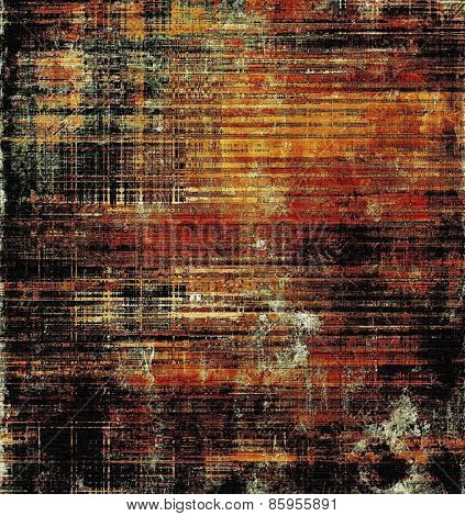 Old scratched retro-style background. With different color patterns: yellow (beige); brown; red (orange); black