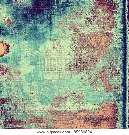 Old abstract grunge background for creative designed textures. With different color patterns: brown; blue; cyan; purple (violet)