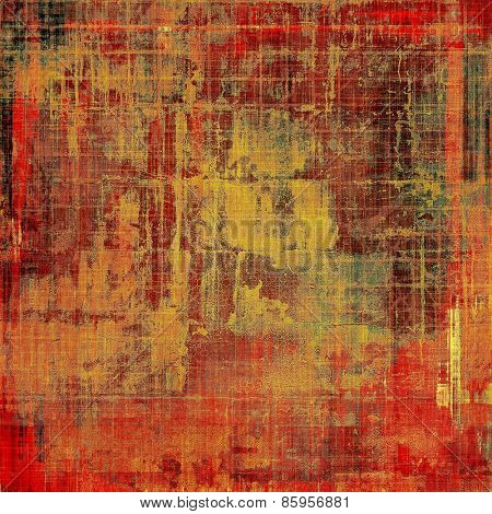Background in grunge style. With different color patterns: yellow (beige); brown; red (orange); green