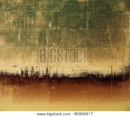 Abstract grunge background of old texture. With different color patterns: yellow (beige); brown; gray; green