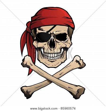 Jolly Roger pirate skull and crossbones