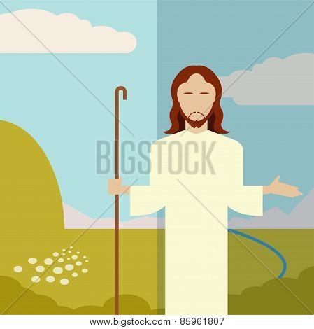 Flat Icon Jesus1