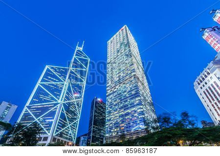 Hong Kong - JULY 31, 2014: Bank of China office on July 31 in China, Hong Kong. Bank of China office building is one of the iconic buildings in HK