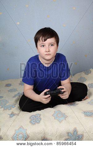 Sad Boy  With A Joystick