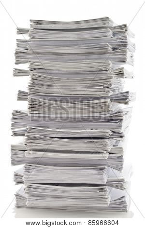 Layered stack of papers
